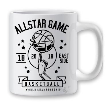 Taza baloncesto allstar