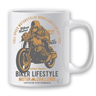 Taza motocicleta biker