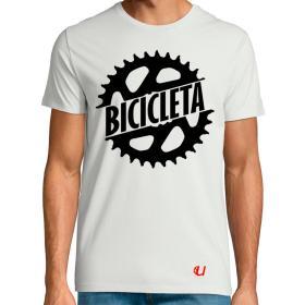 Camiseta Bicicleta Plato Blanca