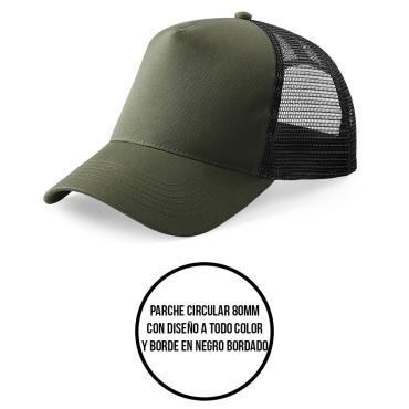 gorra personalizada parche circular