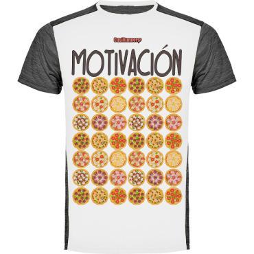 camiseta running motivación pizza