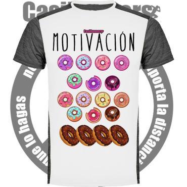 Camiseta running motivación donuts