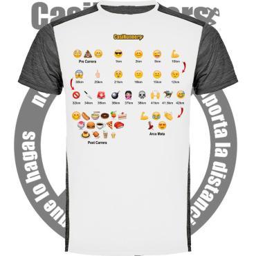 Camiseta running Emojis Maratón